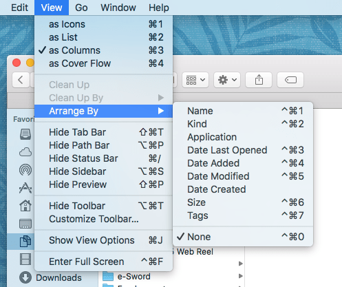HOWTO: Fix file sorting in Finder's column view on Mac OS X Lion